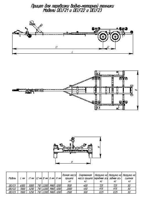Схема прицепа для лодок,