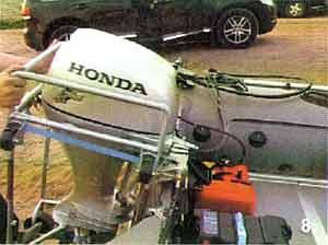 как вешать подвесной мотор