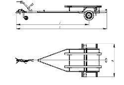 схема лодочного прицепа с размерами